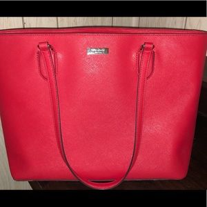 Red Kate Spade Purse with Laptop Pocket